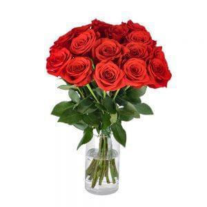 Atado de rosas vermelhas