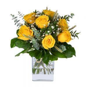 Buquê de rosas amarelas
