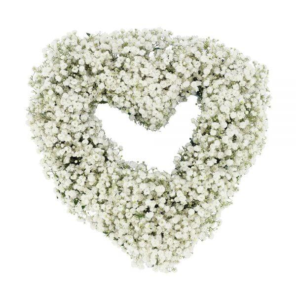 Coração fúnebre branco
