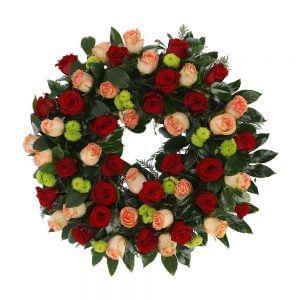 Coroa Fúnebre vermelha