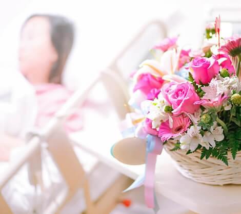 entrega de flores em hospitais