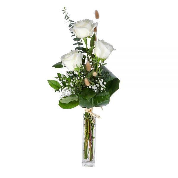 Ramo de 3 rosas brancas