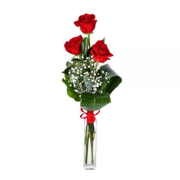 Ramo de 3 rosas vermelhas