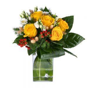 Ramo de rosas amarelas
