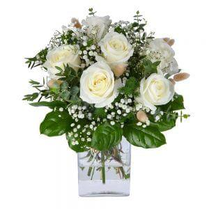 Ramo de rosas brancas