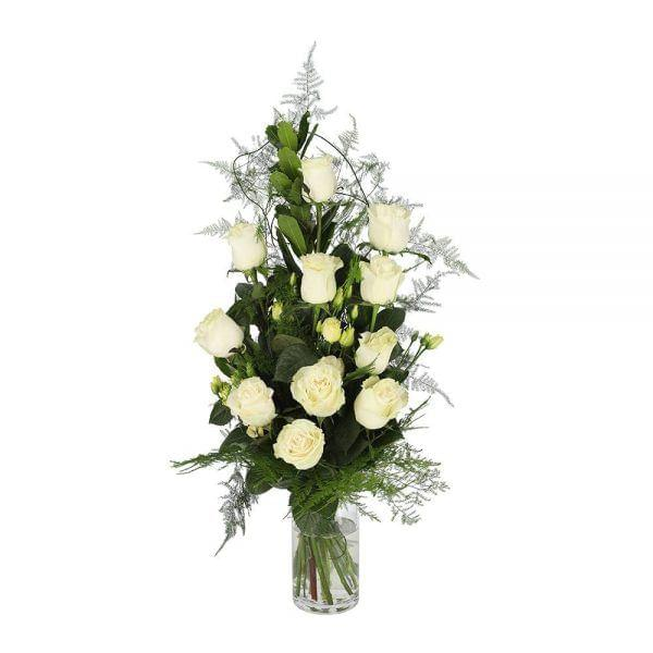 Ramo de rosas brancas para funeral